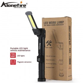 AloneFire W103 Foldable COB LED Flashlight Torch Flexible Hand Torch Work Light Magnetic Inspection Lamp