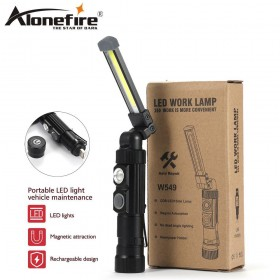 AloneFire W101 High Quality Work Light 5 Modes Portable COB LED Rechargeable Work Light Magnet Flashlight Torch Lamp Light