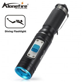 AloneFire DV50 LED Diving Flashlight CREE XM-L2 80m Waterproof Tactical Flashlight dive Torch With Memory Function