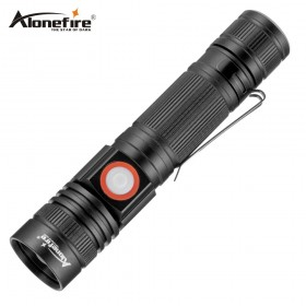 AloneFire X003 Rechargeable Usb Flashlight XML-T6 Led Flashlight 3 modes Zoomable torch 18650 Camping
