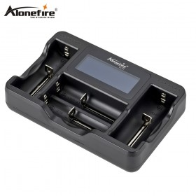 AloneFire SC-04 LCD Smart Battery Charger for Li-ion Ni-MH Ni-Cd 26650 18650 14500 26650 AA AAA C 3.7 1.2V 1.5V Batteries