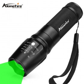 AloneFire X801 green Flashlight Torch Portable Zoom Outdoor Light Waterproof Zoomable LED Lantern Lamp