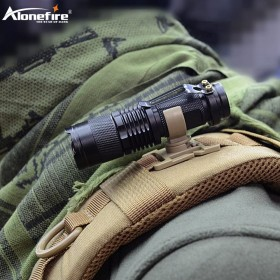 AloneFire LC-10 swivel U ring clip webbing clamp tactical backpack attach strap hang camp outdoor hike mountain climb