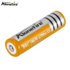 AloneFire 1PC Original 18650 3.7V 4200mah 18650 Lithium Rechargeable Battery For led Flashlight batteries