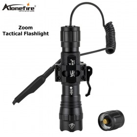 AloneFire tk503 Mini Pistol Light QD Quick Detach Handgun zoom Flashlight LED Rifle Gun Tactical Torch for 20mm Rail Glock