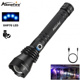 AloneFire H006 XHP70 Most Powerful Flashlight XHP50 USB Zoom LED Torch XHP70.2 Tactical Lights self Defense Hunting Xlamp