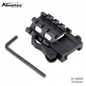 AloneFire KC D0036 Tactical 20mm weaver picatinny Rifle Scope Mount Base Dovetail Extend Weaver Picatinny Rail Adapter
