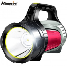 AloneFire JS-881A Rechargeable LED Flashlight High Power Outdoors Camping Handed Lamp Portable Spotlight Lantern Searchlight