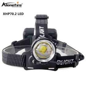 Alonefire HP39 50000LM Super Bright LED Headlamp XHP70.2 Headlight Lamp 18650 Zoom Fishing Rechargeable Flashlight Lantern