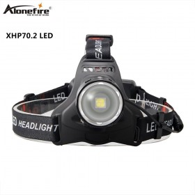 Alonefire HP37 Led headlamp XHP70.2 Headlight 50000LM The best brightest powerful head lamp Fishing flashlight lantern