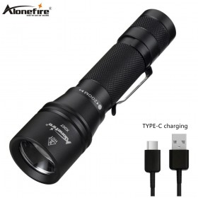 Alonefire X007 zoom led flashlight usb charging ultra bright torch xml t6 tactical torch Lanterna Zoomable Waterproof Flash light Bike light