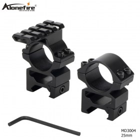 Alonefire MD3004 1pair 25.4mm Scope Mount Riflescope Rings Mount 21mm Dovetail Scope rail / 20mm Picatinny For Rifle Hunting