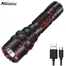 Alonefire G200 80000LM Powerful XHP50.2 tactical LED Flashlight Xlamp Waterproof Torch Light Ultra Bright Lantern Camping