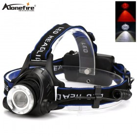 Alonefire HP79-WR red+white Headlamp lightweight Waterproof LED Head light Camping Head lamp Travel hike Headlight