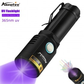 Alonefire X901UV 365nm uv flashlight ultraviolet USB rechargeable Ultra Violet torch Urine Detector for Cats Pet Stains Scorpions
